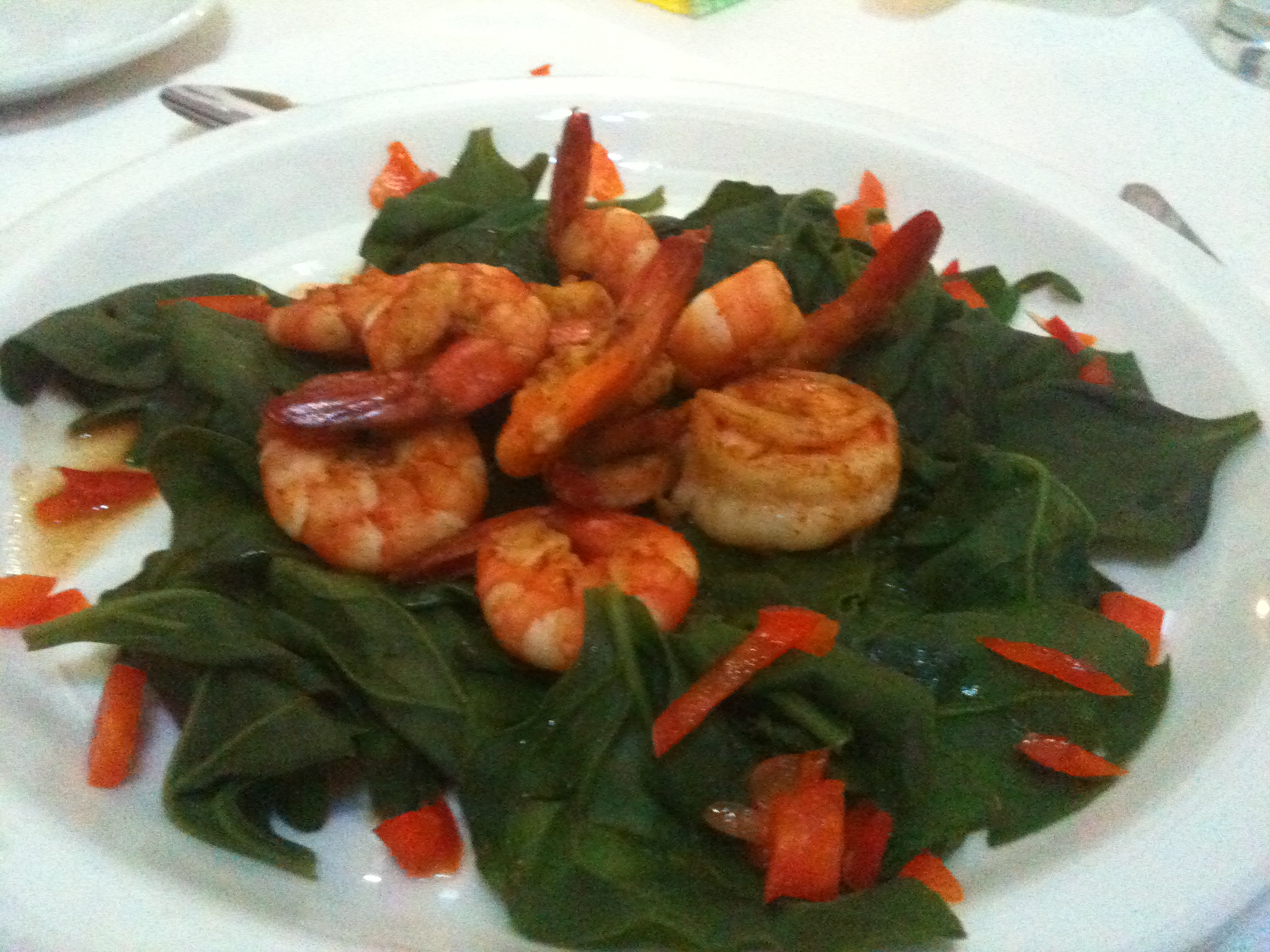 Shrimp Spinach HCG